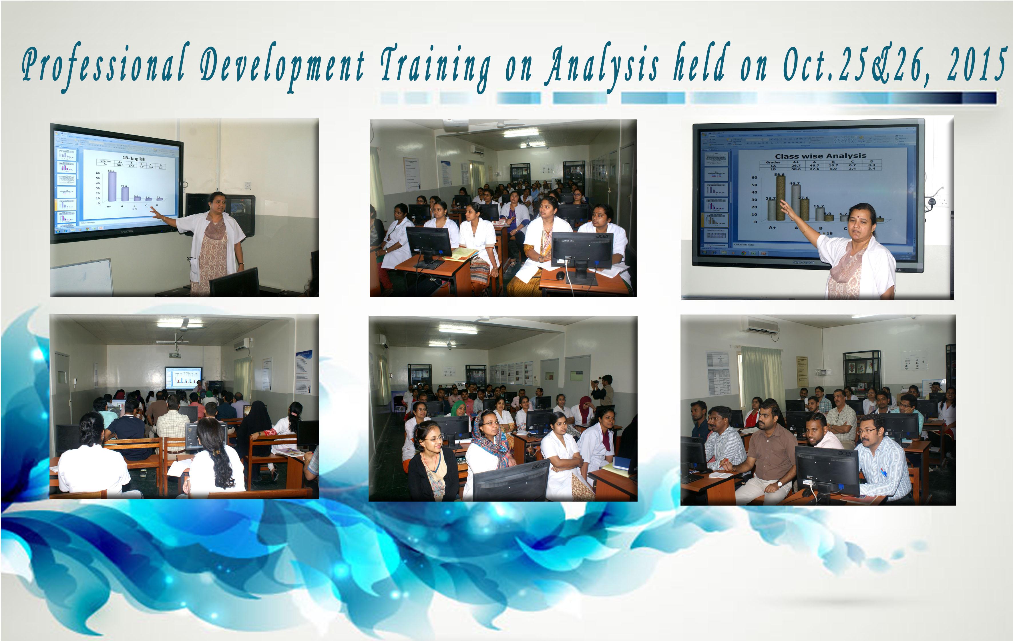 Professional Development Traning on Analysis